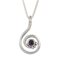 Celada Pendant with Gem in Amethyst
