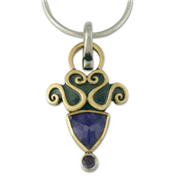 Tilly Pendant in Iolite