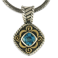 Carnival Pendant in Swiss Blue Topaz
