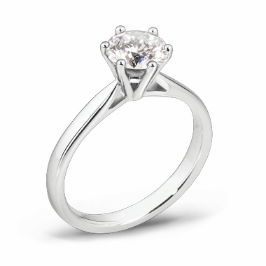 Solitaire Diamond Fairtrade Gold Engagement Ring in 18K White Gold