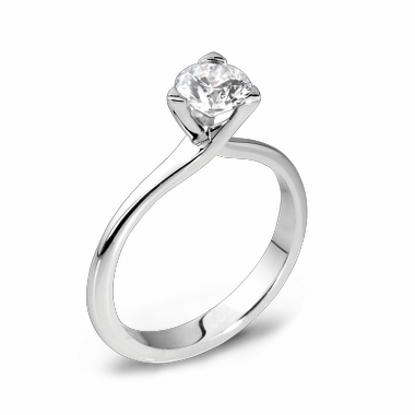 Three Prong Solitaire Diamond Fairtrade Gold Engagement Ring in 18K White Gold