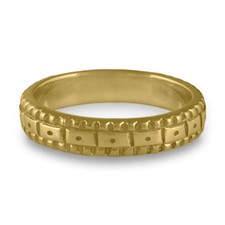 Narrow Solaris Wedding Ring in 14K Yellow Gold