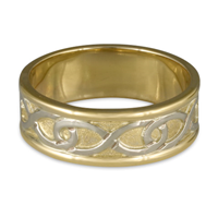 Twinning Infinity Wedding Ring in 18K Yellow Gold Borders & Base w 18K White Gold Center