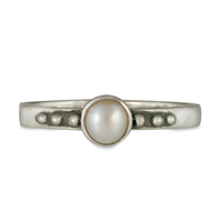 Pearl Dot Ring in Sterling Silver