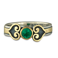 Corazon Engagement Ring in Emerald