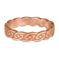 Borderless Petra Wedding Ring in 14K Rose Gold