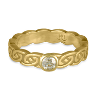 Borderless Petra Engagement Ring in 18K Yellow Gold