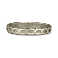 Borderless Rope Wedding Ring Straight in 14K White Gold