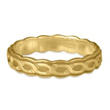 Borderless Rope Wedding Ring Edge in 14K Yellow Gold