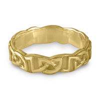 Borderless Heart Wedding Ring in 14K Yellow Gold