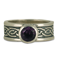 Laura Ring with Gem in Sterling Silver