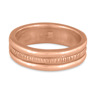Wide Bridges Wedding Ring in 14K Rose Gold