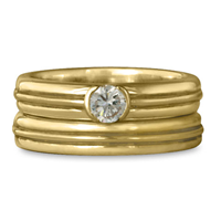 Windsor Bridal Ring Set in 14K Yellow Gold