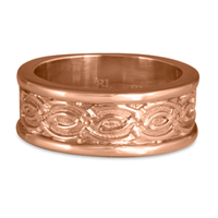Bordered Laura Wedding Ring in 14K Rose Gold