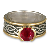 Bordered Laura Engagement Ring in Ruby