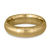 Classic Comfort Fit Wedding Ring 6mm in 14K Yellow Gold