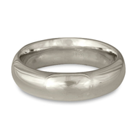 Classic Comfort Fit Wedding Ring 6mm in Platinum