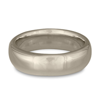 Classic Comfort Fit Wedding Ring 7mm in 14K White Gold
