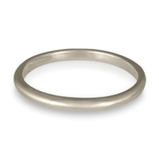 Classic Comfort Fit Wedding Ring 2x2mm in 14K White Gold