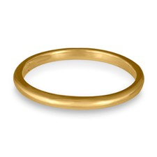 Classic Comfort Fit Wedding Ring 2x2mm in 14K Yellow Gold