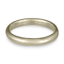 Classic Comfort Fit Wedding Ring 3x2mm in 14K White Gold