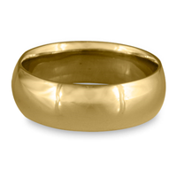 Classic Comfort Fit Wedding Ring 8x2mm in 14K Yellow Gold