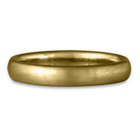 Classic Comfort Fit Wedding Ring Brushed 3mm in 14K Yellow Gold