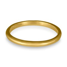 Classic Comfort Fit Wedding Ring 2x1 5mm in 14K Yellow Gold