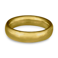 Classic Comfort Fit Wedding Ring 6x2mm in 14K Yellow Gold