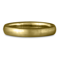 Classic Comfort Fit Wedding Ring Brushed 3mm in 18K Yellow Gold