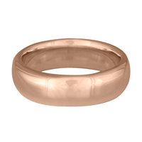 Classic Comfort Fit Wedding Ring 8mm in 14K Rose Gold