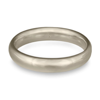 Classic Comfort Fit Wedding Ring 4mm in 14K White Gold