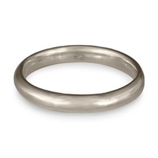 Classic Comfort Fit Wedding Ring 3mm in Platinum