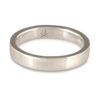 Flat Comfort Fit Wedding Ring 4mm in Platinum