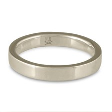 Flat Comfort Fit Wedding Ring 3x2mm in 14K White Gold