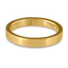 Flat Comfort Fit Wedding Ring 3x2mm in 14K Yellow Gold