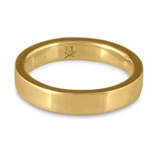 Flat Comfort Fit Wedding Ring 5mm in 14K Yellow Gold