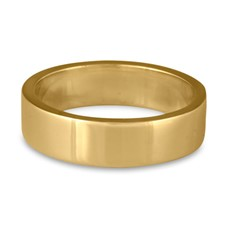 Flat Comfort Fit Wedding Ring 6mm in 14K Yellow Gold