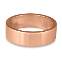 Flat Comfort Fit Wedding Ring 7mm in 14K Rose Gold