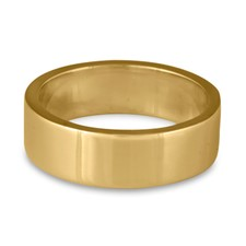 Flat Comfort Fit Wedding Ring 7x2mm in 14K Yellow Gold