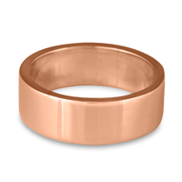 Flat Comfort Fit Wedding Ring 8mm in 14K Rose Gold