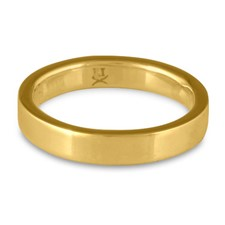 Flat Comfort Fit Wedding Ring 4mm in 18K Yellow Gold