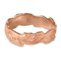 Medium Borderless Flores Wedding Ring in 14K Rose Gold