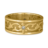 Bordered Persephone Wedding Ring with Gems in 311 Diamond