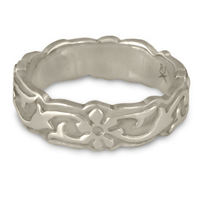 Borderless Persephone Wedding Ring in 14K White Gold