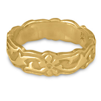 Borderless Persephone Wedding Ring in 14K Yellow Gold