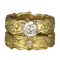 Persephone Bridal Ring Set in 18K Yellow Gold