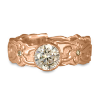 Persephone Engagement Ring with Gems in 18K Rose Gold