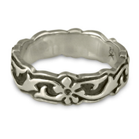 Borderless Persephone Wedding Ring in Sterling Silver
