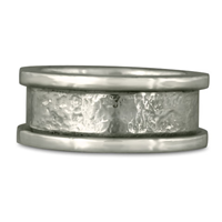 King s Ring Hand Hammered Wedding Ring  in Sterling Silver